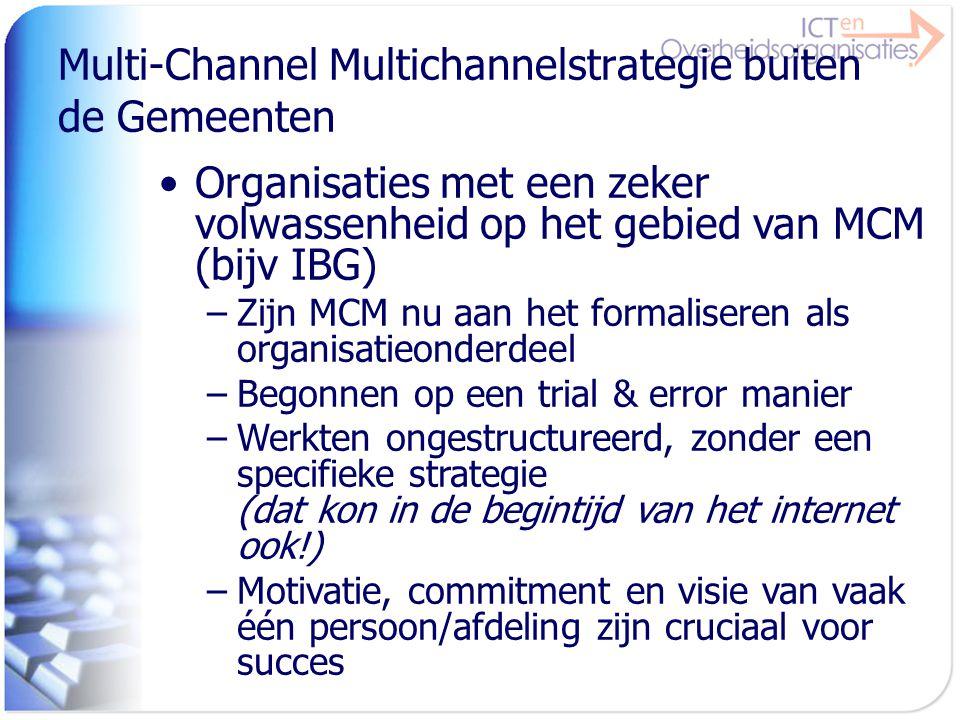 Multi-Channel Multichannelstrategie buiten de Gemeenten