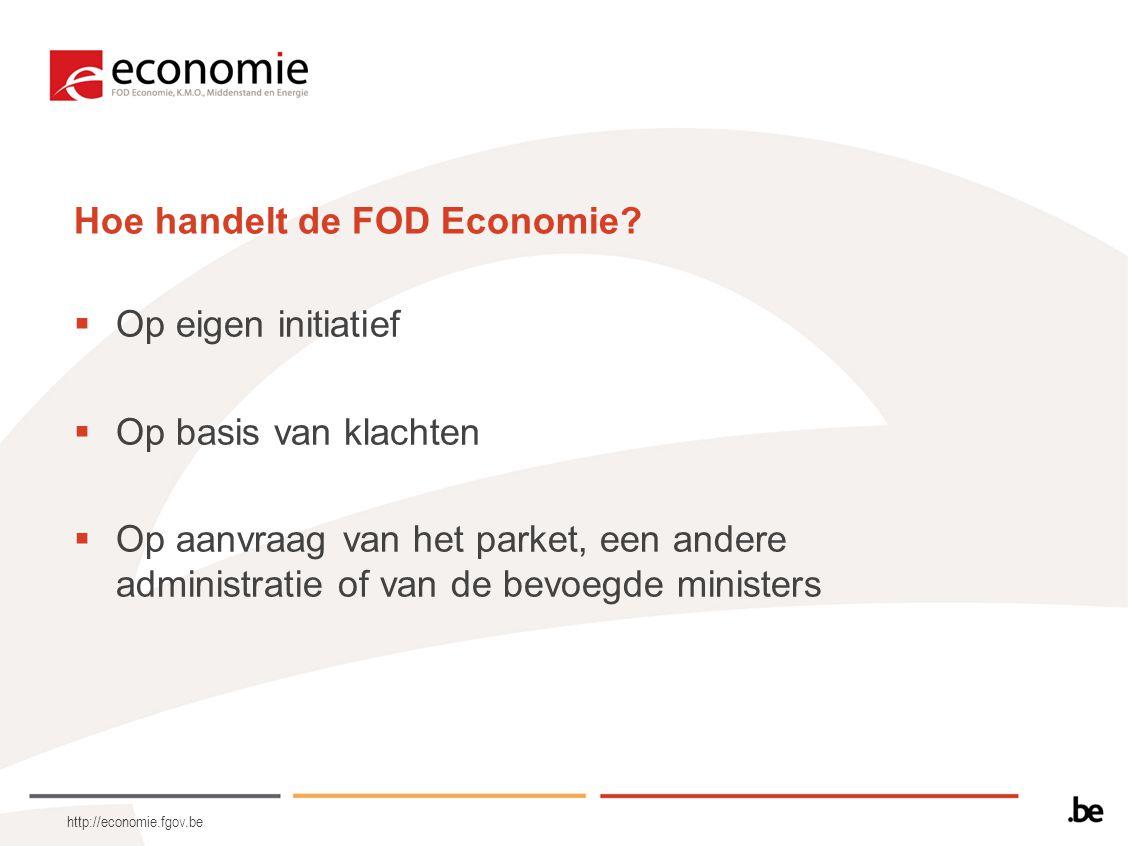 Hoe handelt de FOD Economie