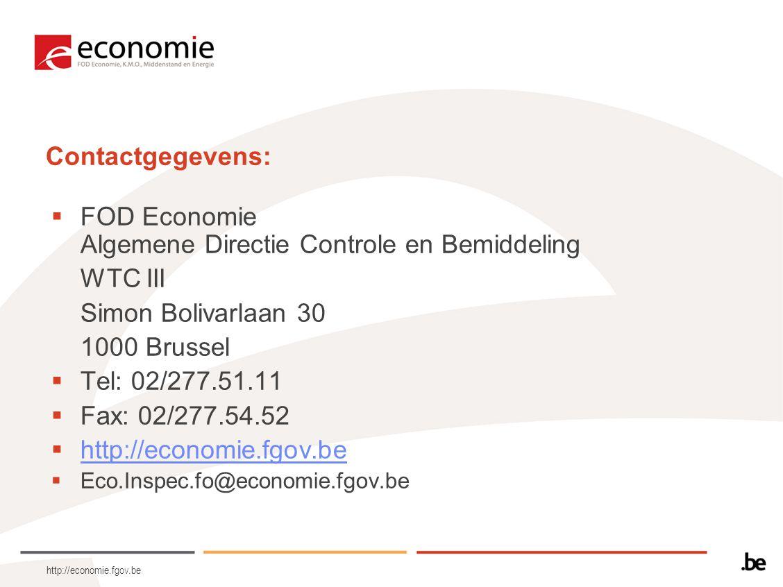 FOD Economie Algemene Directie Controle en Bemiddeling WTC III