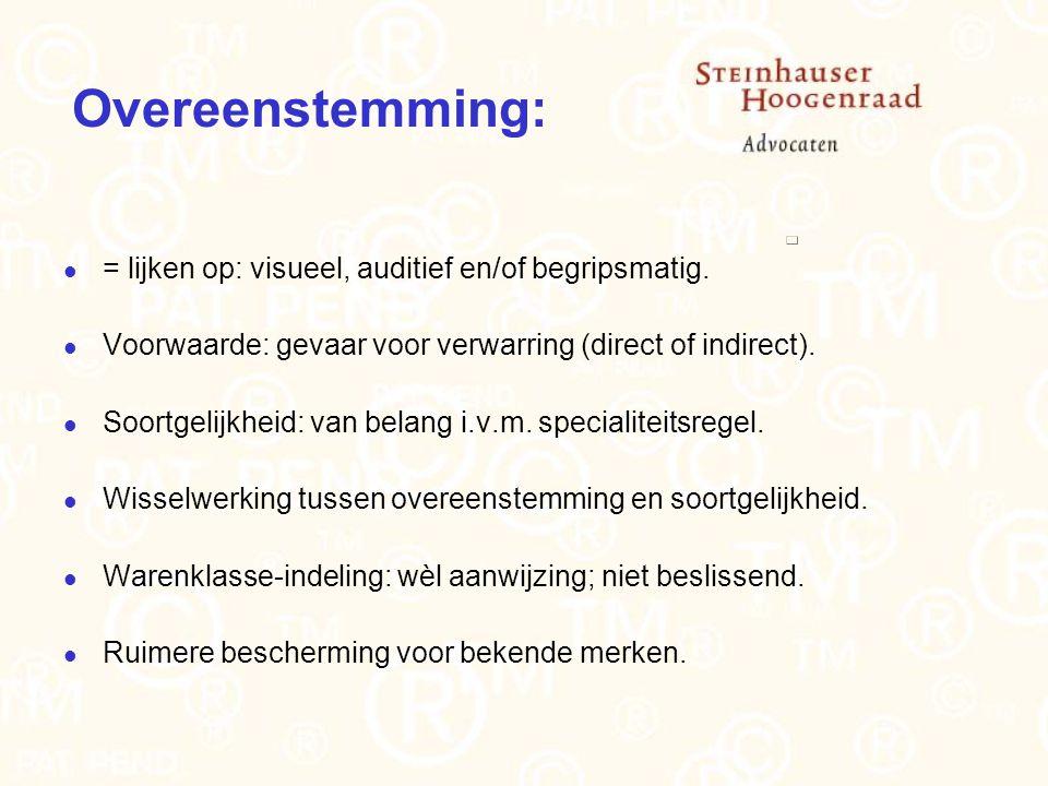 Overeenstemming: = lijken op: visueel, auditief en/of begripsmatig.