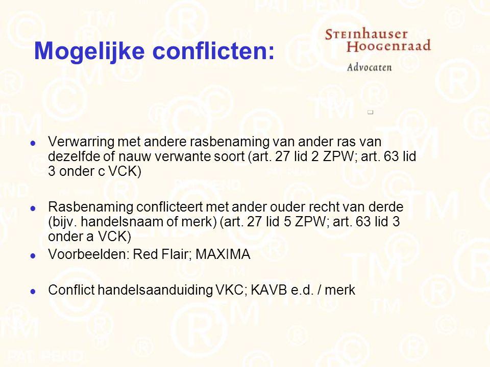 Mogelijke conflicten: