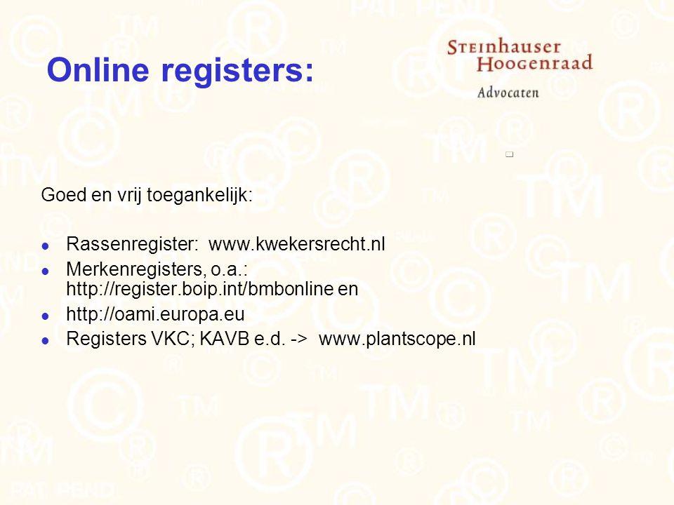 Online registers: Goed en vrij toegankelijk: