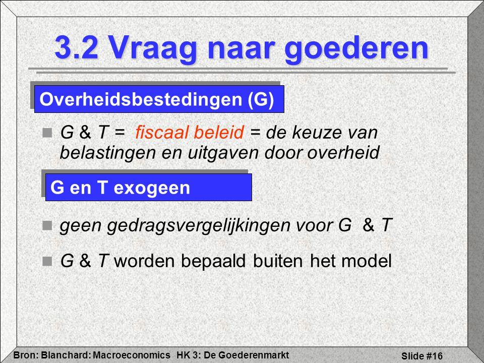 3.2 Vraag naar goederen Overheidsbestedingen (G)