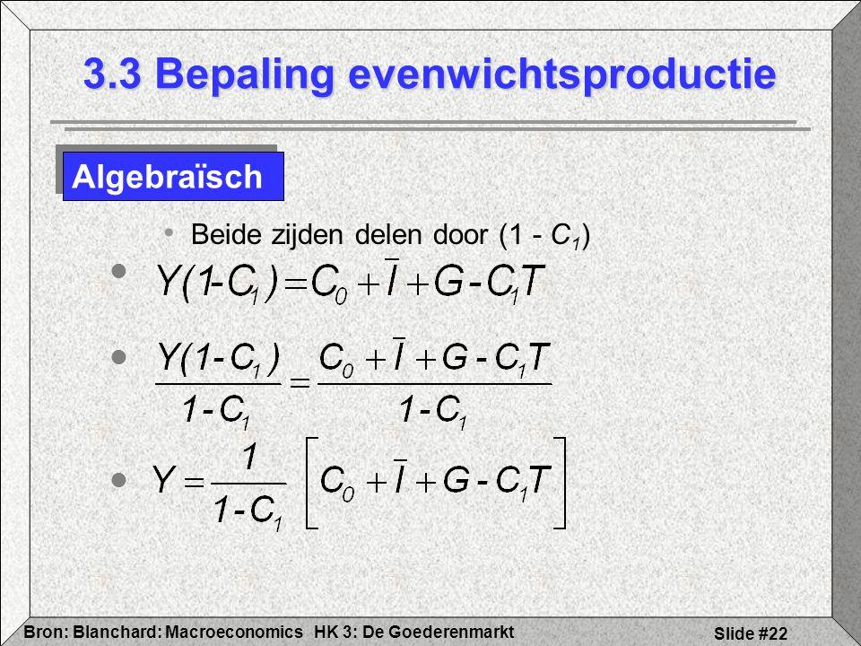 3.3 Bepaling evenwichtsproductie