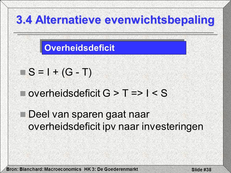 3.4 Alternatieve evenwichtsbepaling