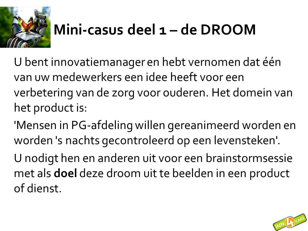 Mini-casus deel 1 – de DROOM