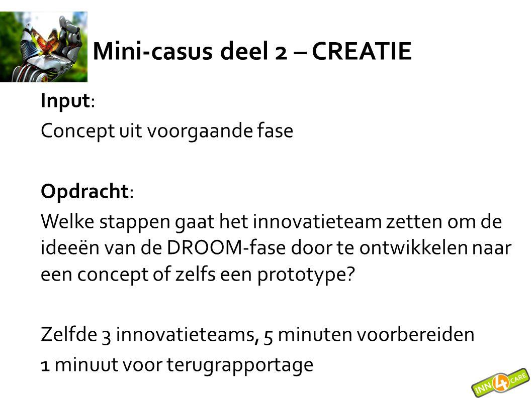 Mini-casus deel 2 – CREATIE