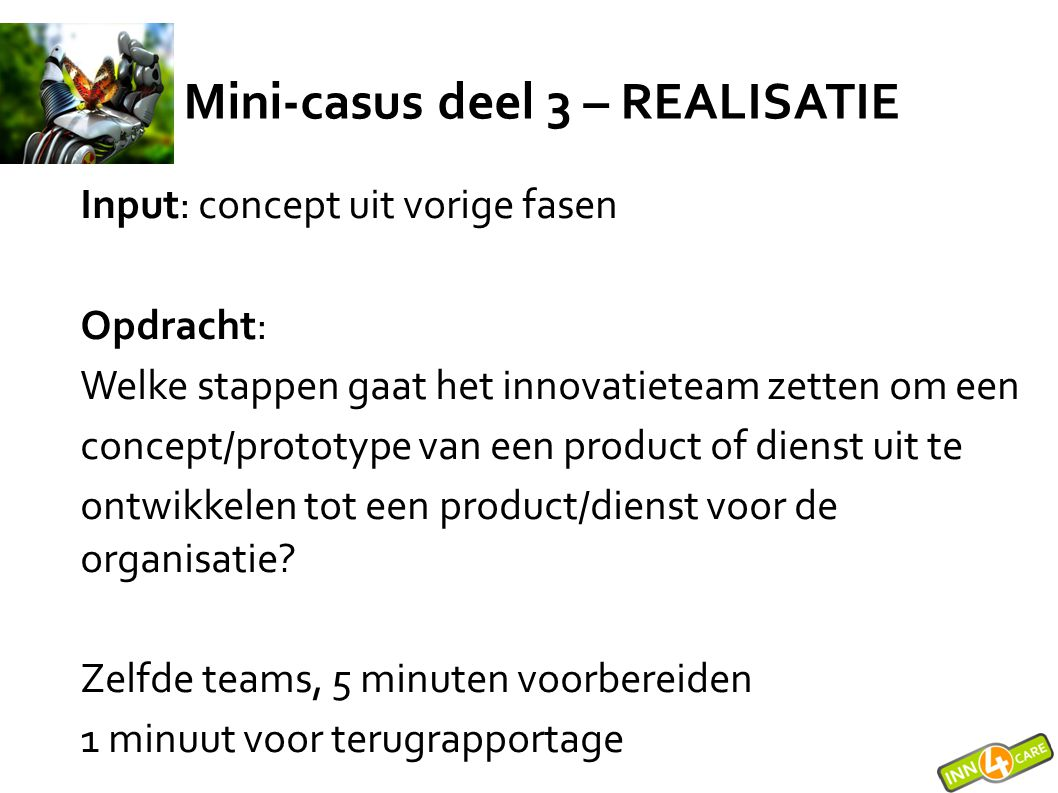 Mini-casus deel 3 – REALISATIE