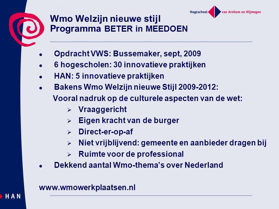 Wmo Welzijn nieuwe stijl Programma BETER in MEEDOEN
