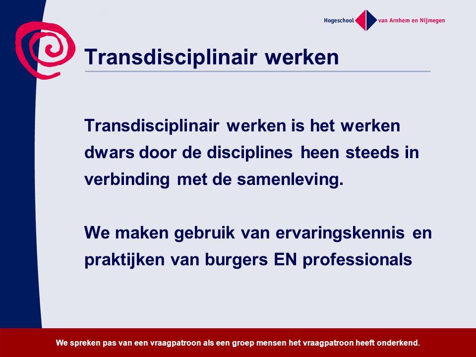 Transdisciplinair werken