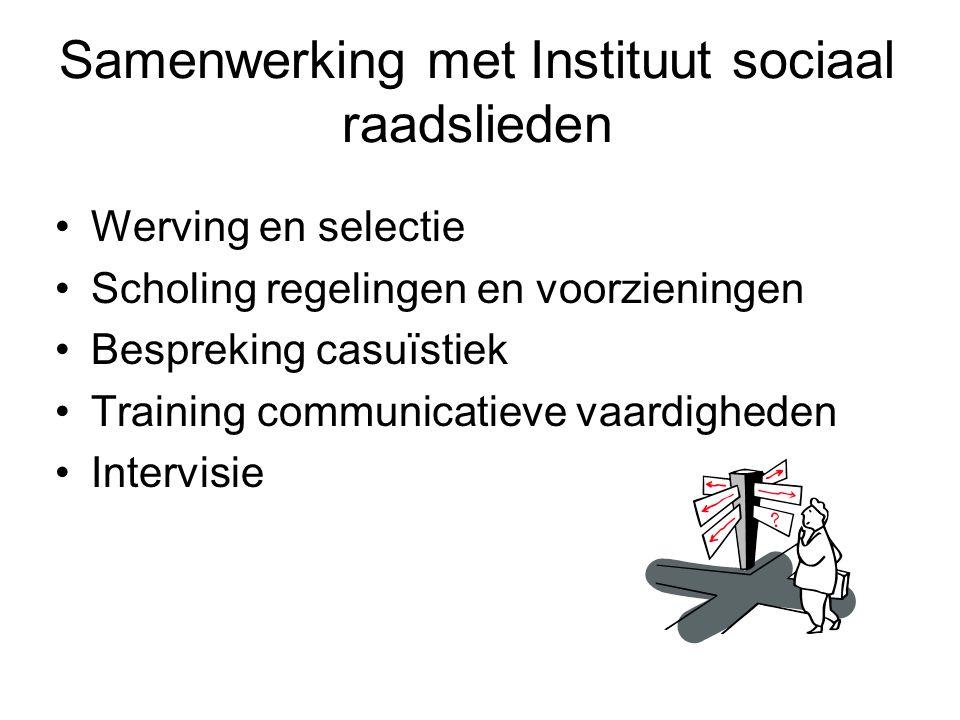 Samenwerking met Instituut sociaal raadslieden