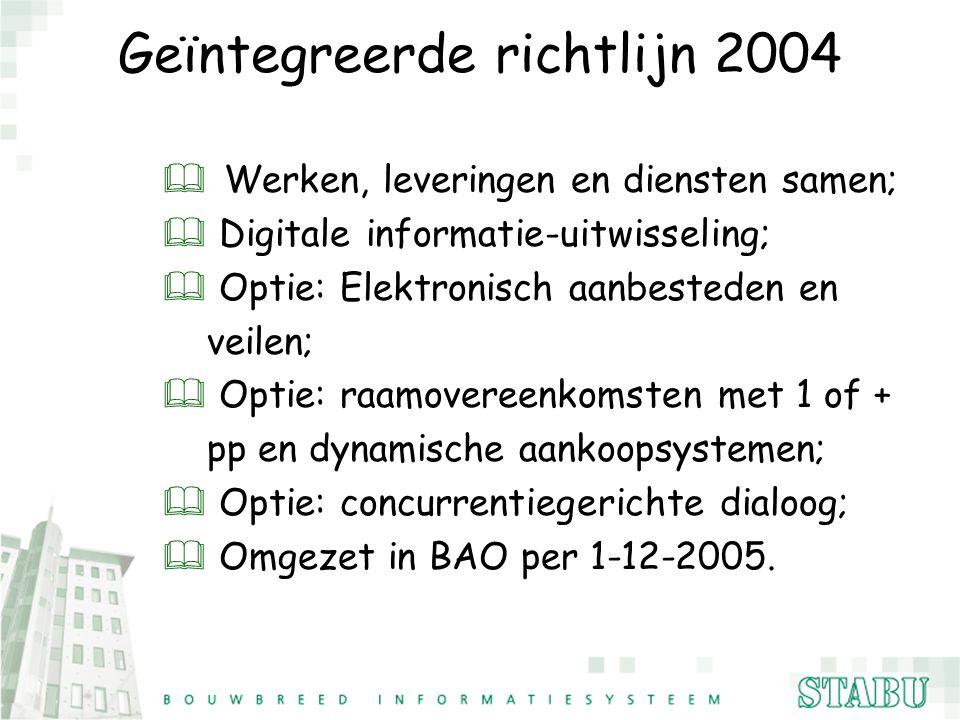 Geïntegreerde richtlijn 2004