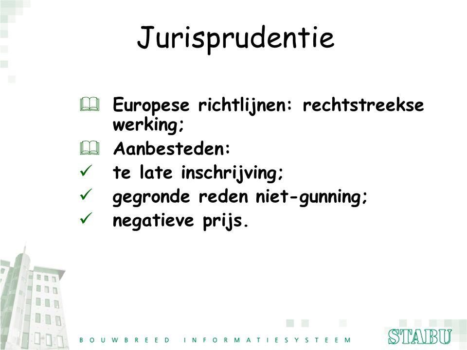 Jurisprudentie Europese richtlijnen: rechtstreekse werking;
