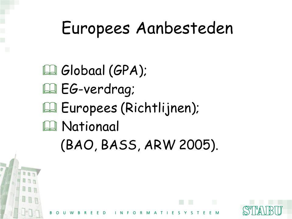 Europees Aanbesteden Globaal (GPA); EG-verdrag;
