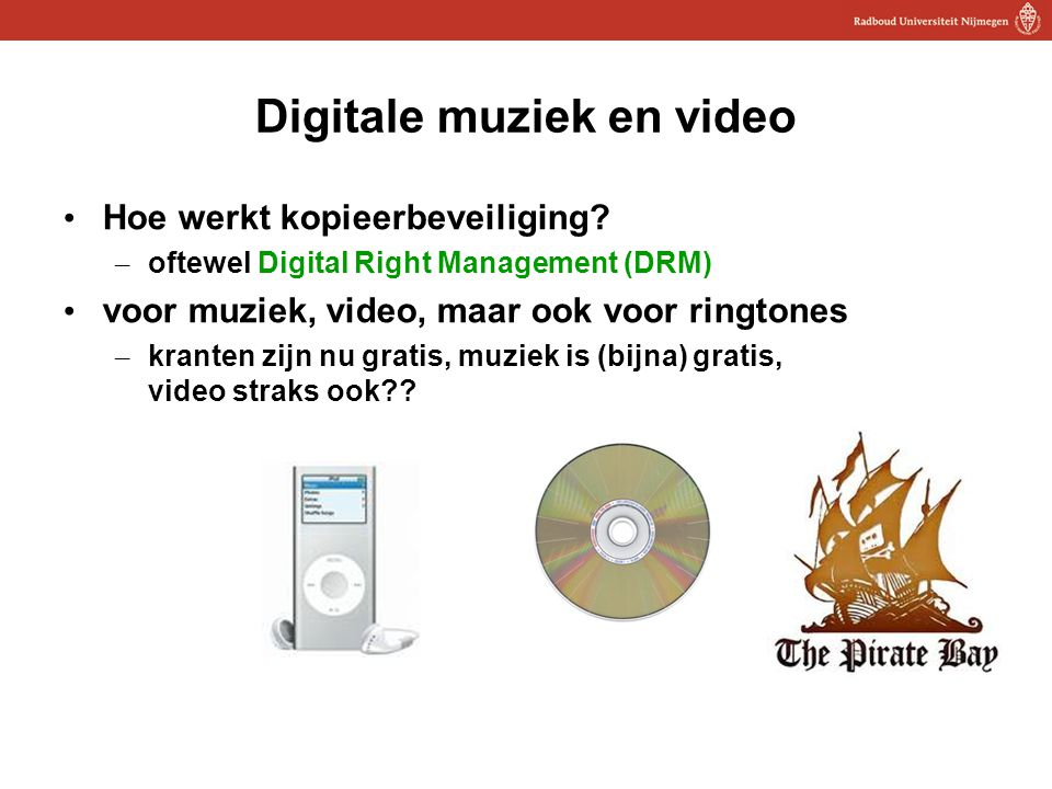 Digitale muziek en video