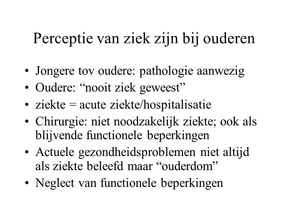 Perceptie van ziek zijn bij ouderen