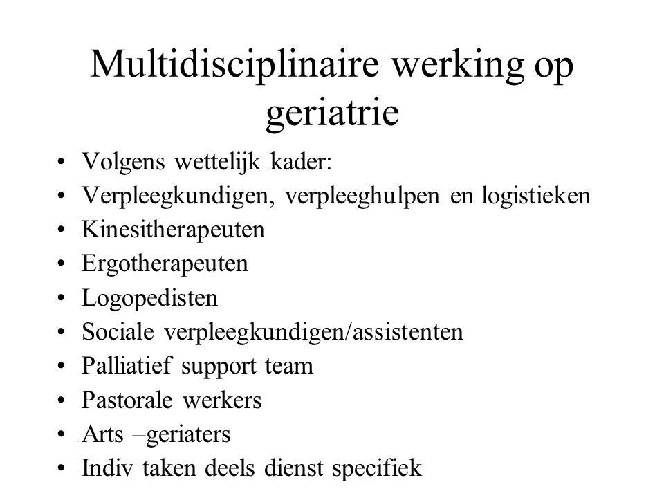 Multidisciplinaire werking op geriatrie