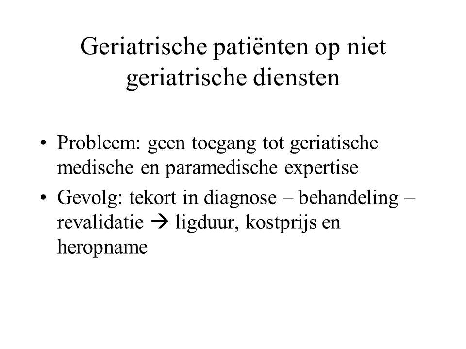 Geriatrische patiënten op niet geriatrische diensten