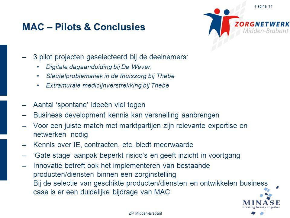 MAC – Pilots & Conclusies
