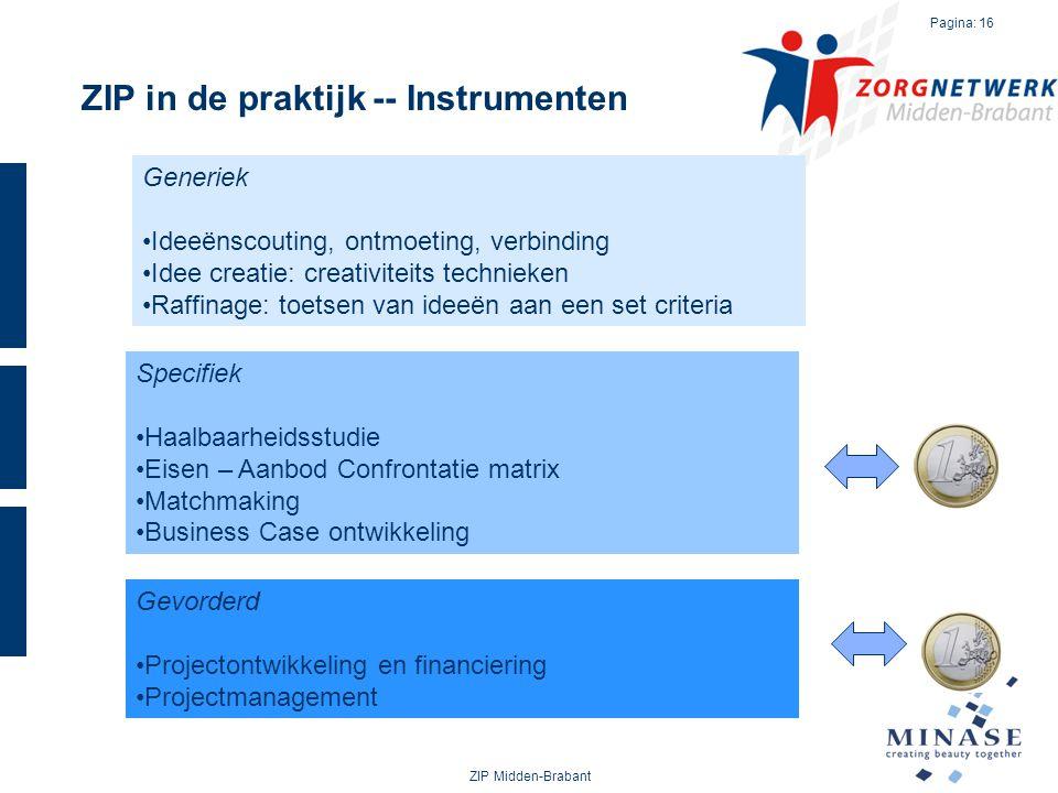 ZIP in de praktijk -- Instrumenten
