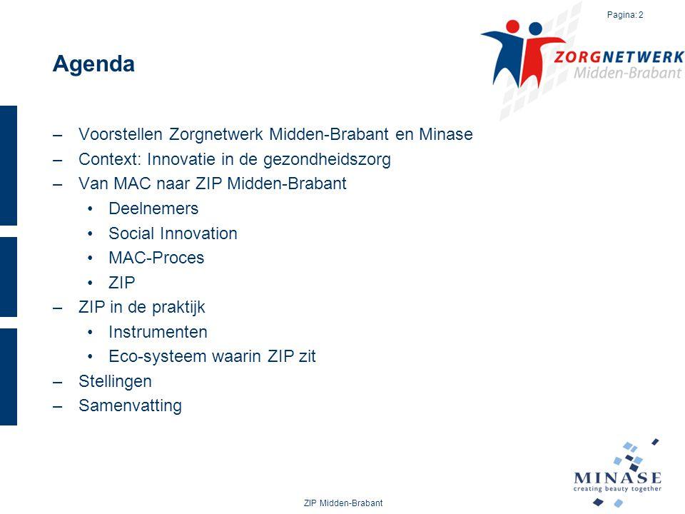 Agenda Voorstellen Zorgnetwerk Midden-Brabant en Minase
