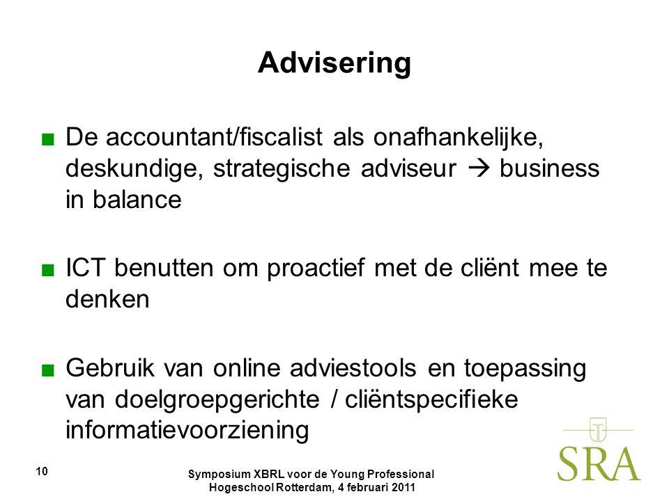 Advisering De accountant/fiscalist als onafhankelijke, deskundige, strategische adviseur  business in balance.