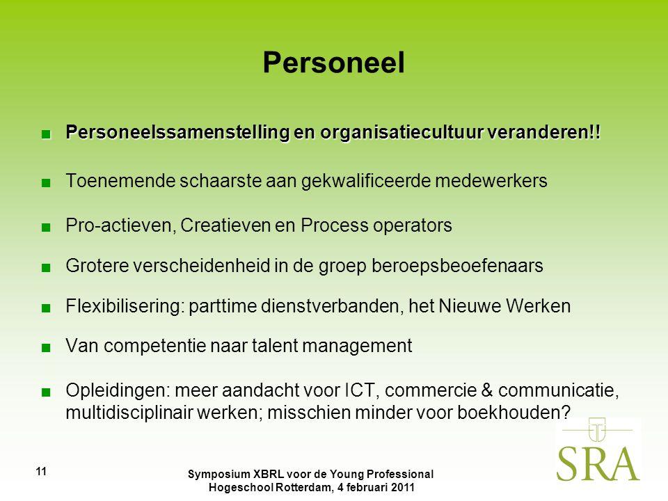 Personeel Personeelssamenstelling en organisatiecultuur veranderen!!