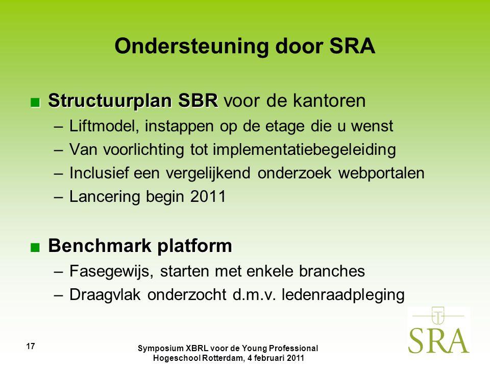 Ondersteuning door SRA