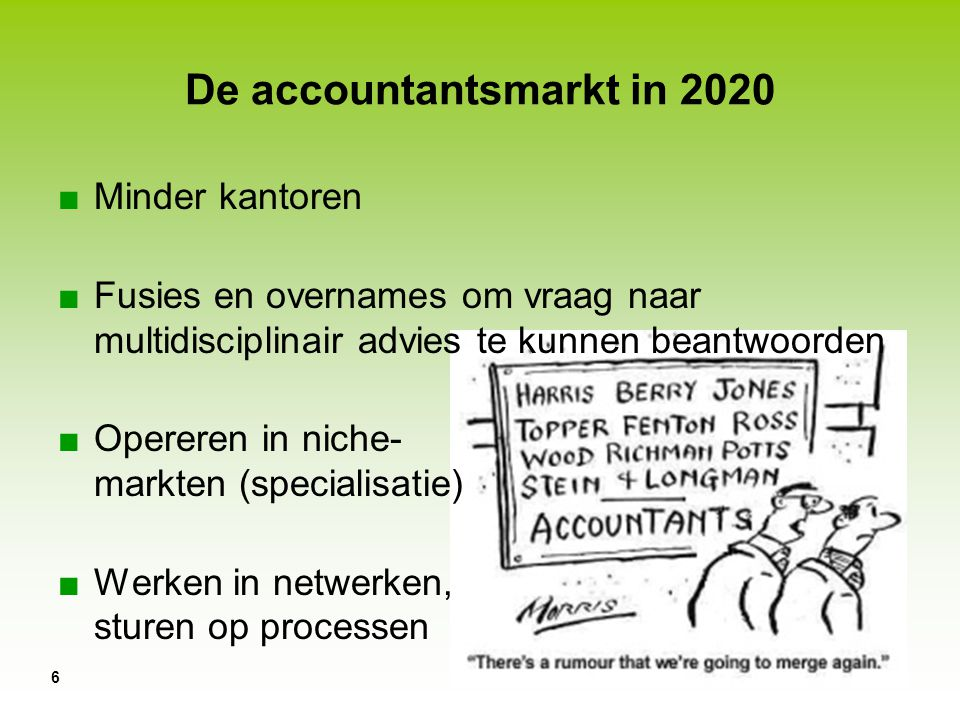 De accountantsmarkt in 2020