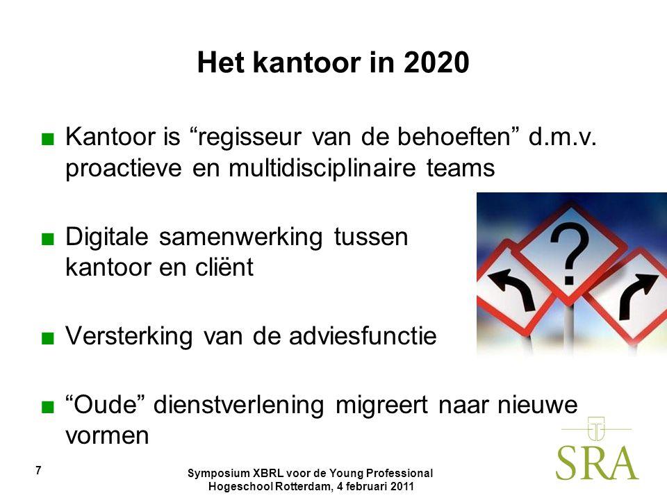 Het kantoor in 2020 Kantoor is regisseur van de behoeften d.m.v. proactieve en multidisciplinaire teams.
