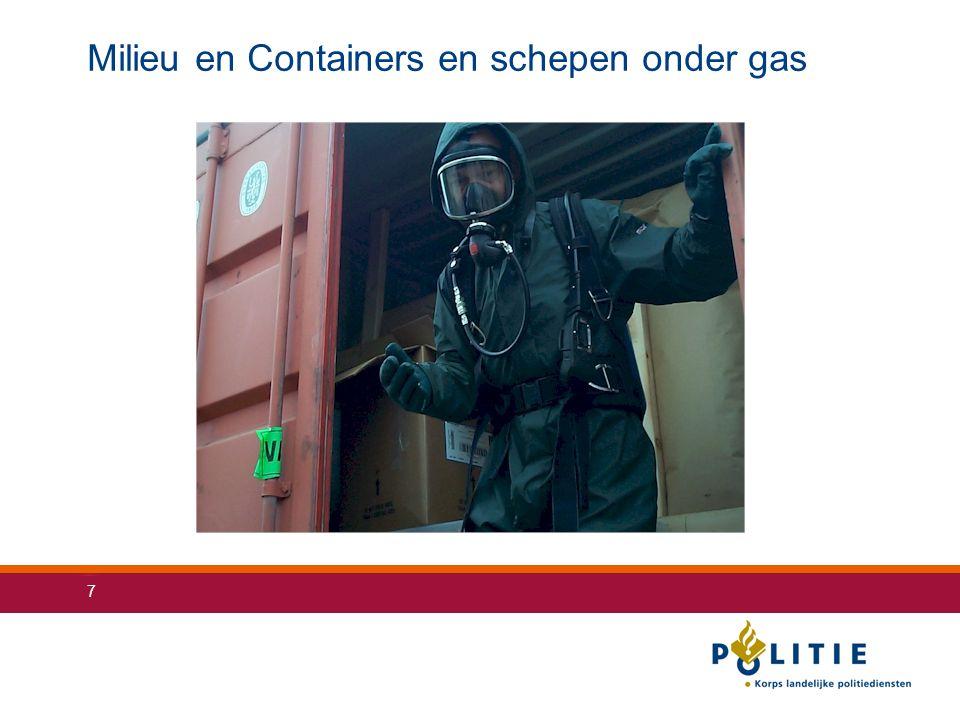 Milieu en Containers en schepen onder gas
