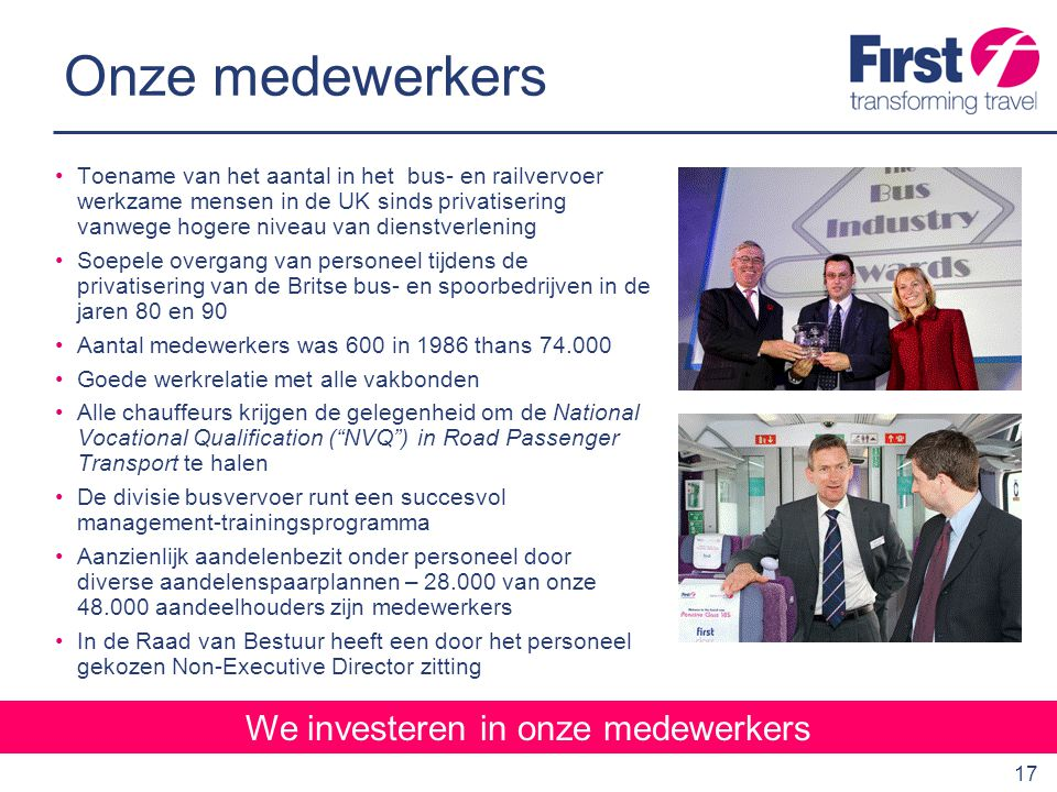 We investeren in onze medewerkers