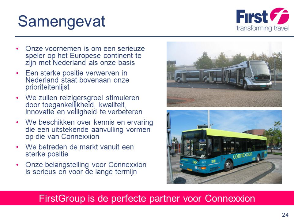 FirstGroup is de perfecte partner voor Connexxion