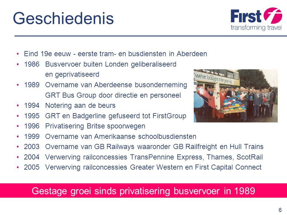 Gestage groei sinds privatisering busvervoer in 1989