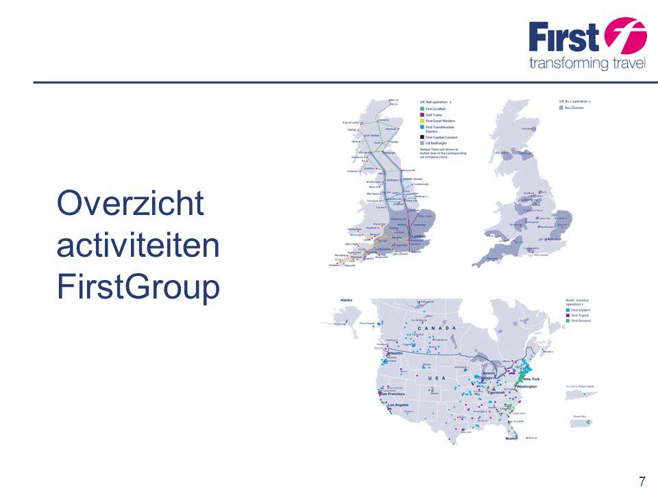 Overzicht activiteiten FirstGroup