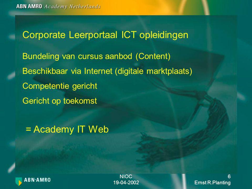 Corporate Leerportaal ICT opleidingen