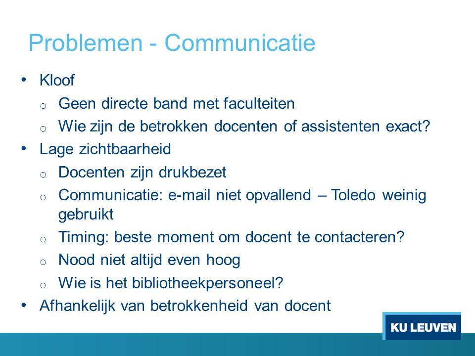 Problemen - Communicatie