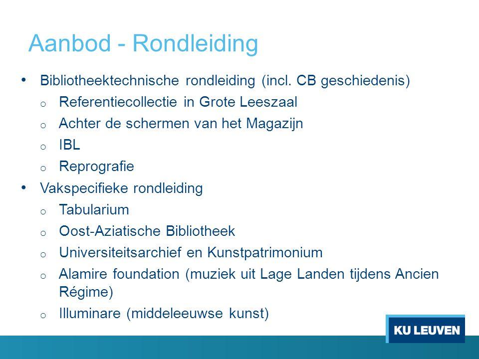 Aanbod - Rondleiding Bibliotheektechnische rondleiding (incl. CB geschiedenis) Referentiecollectie in Grote Leeszaal.