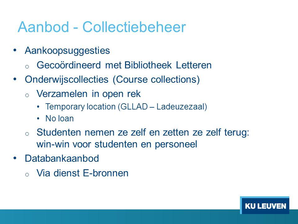 Aanbod - Collectiebeheer