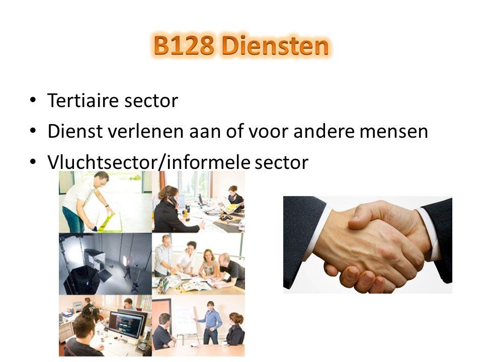 B128 Diensten Tertiaire sector