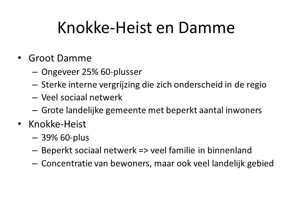 Knokke-Heist en Damme Groot Damme Knokke-Heist Ongeveer 25% 60-plusser