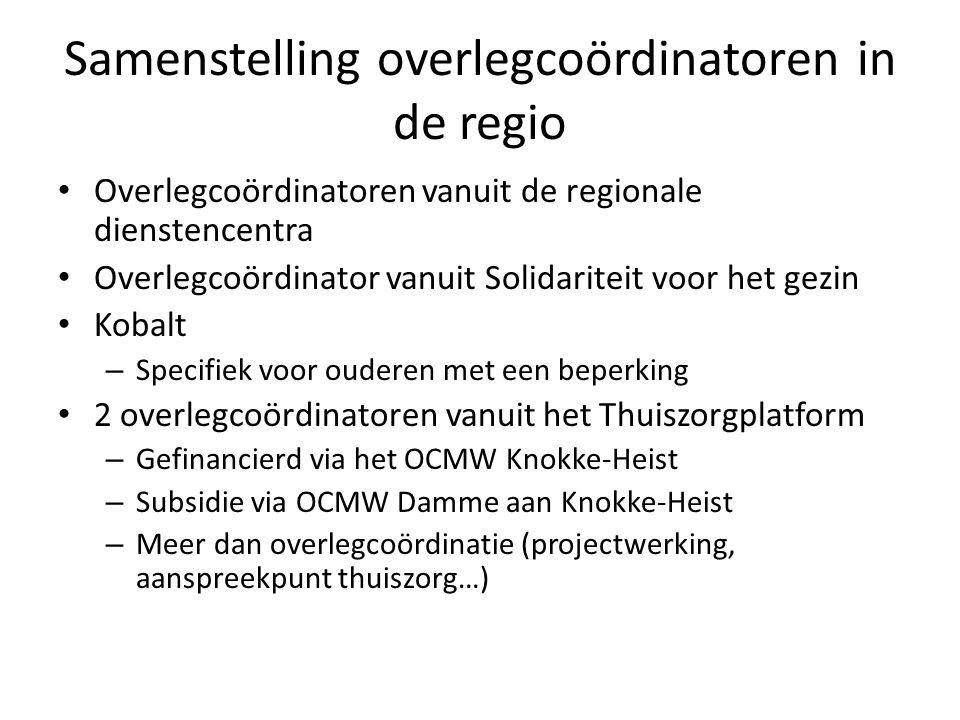Samenstelling overlegcoördinatoren in de regio