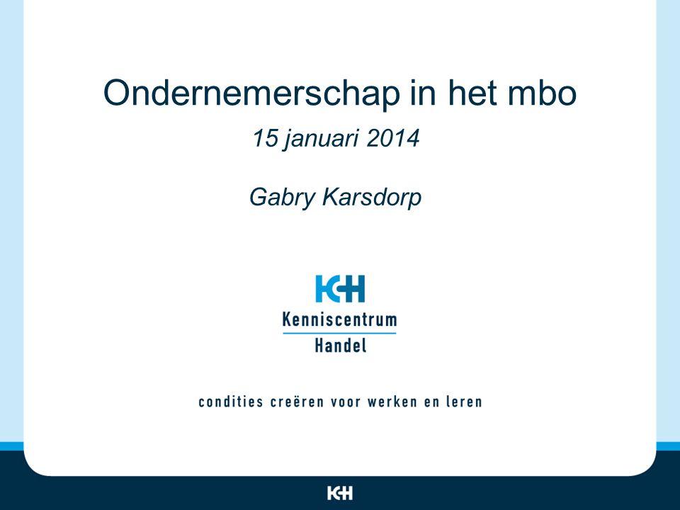 Ondernemerschap in het mbo