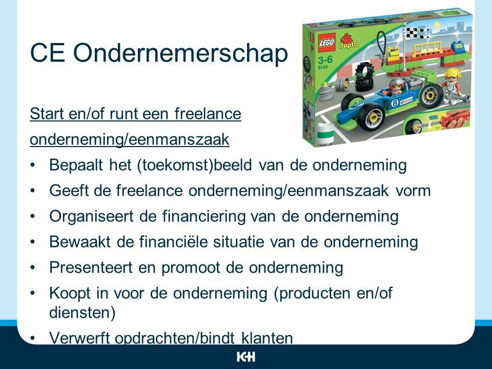 CE Ondernemerschap Start en/of runt een freelance