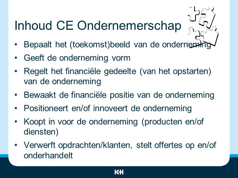 Inhoud CE Ondernemerschap