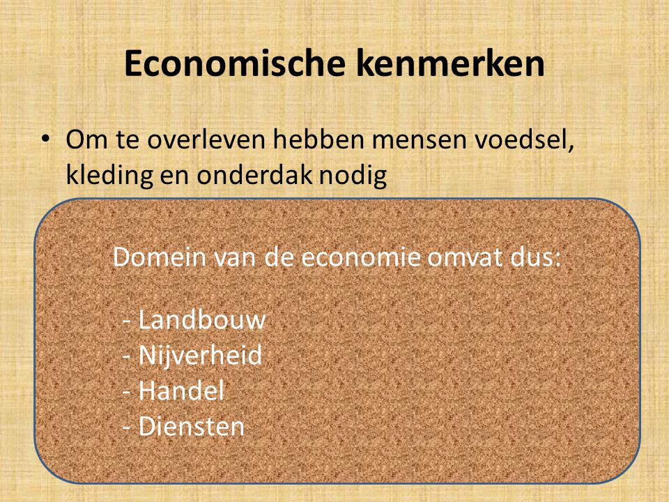 Economische kenmerken