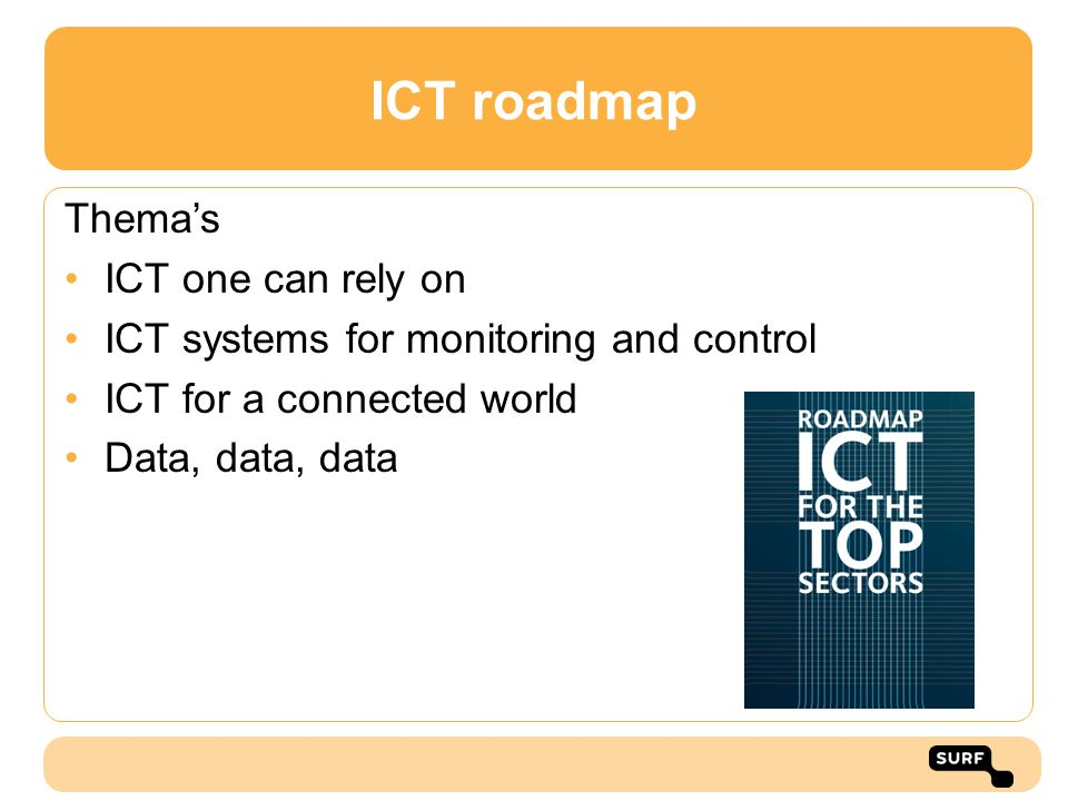 ICT roadmap Thema's ICT one can rely on