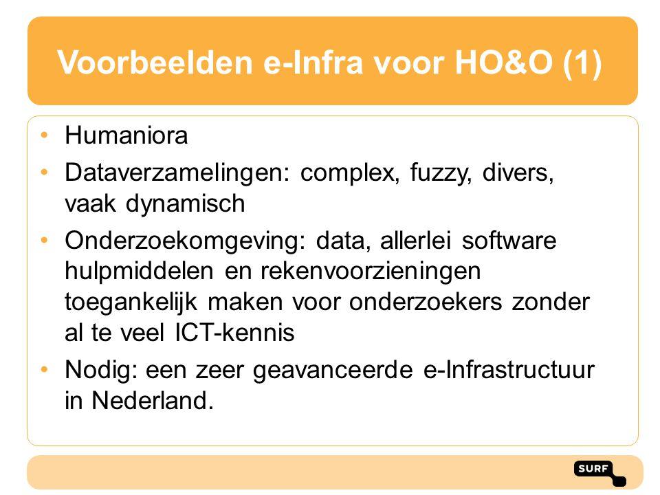 Voorbeelden e-Infra voor HO&O (1)