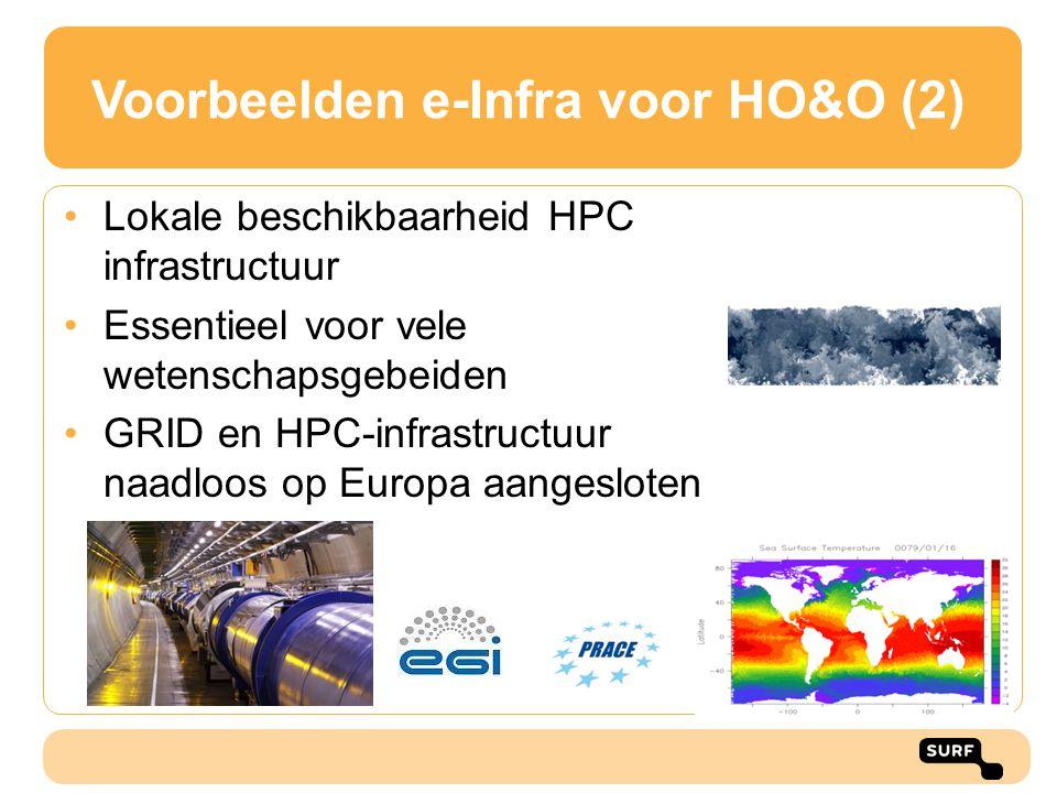 Voorbeelden e-Infra voor HO&O (2)