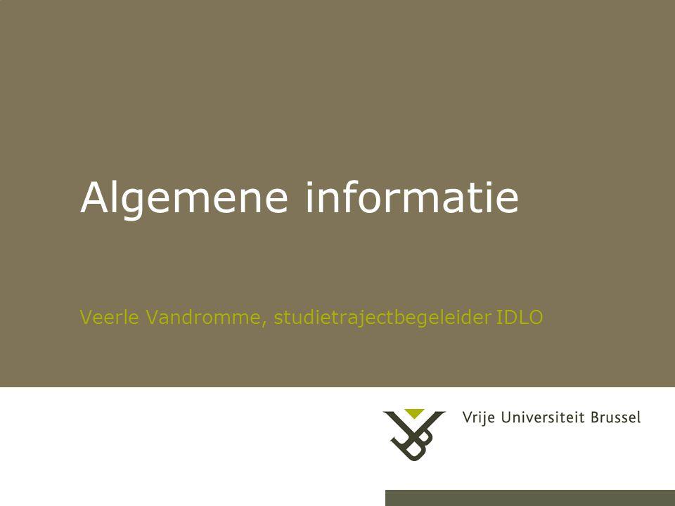 Veerle Vandromme, studietrajectbegeleider IDLO